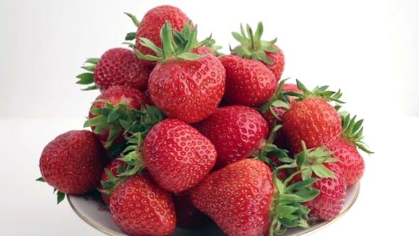 Thumbnail for Fresh, Ripe, Juicy Strawberries Rotate.