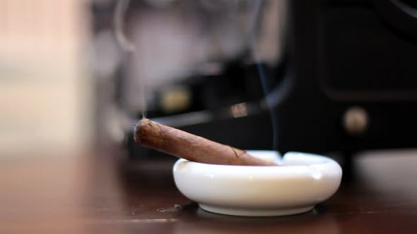 Thumbnail for Man Smoking Cuban Cigar In Bar