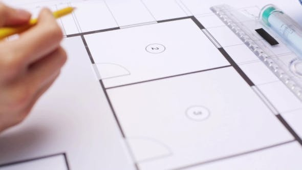 Thumbnail for Woman And Architect Discussing Blueprint Of House 47