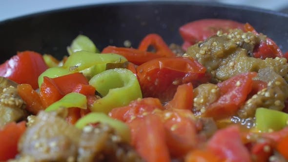 Thumbnail for Vegetables Stewing In Pan