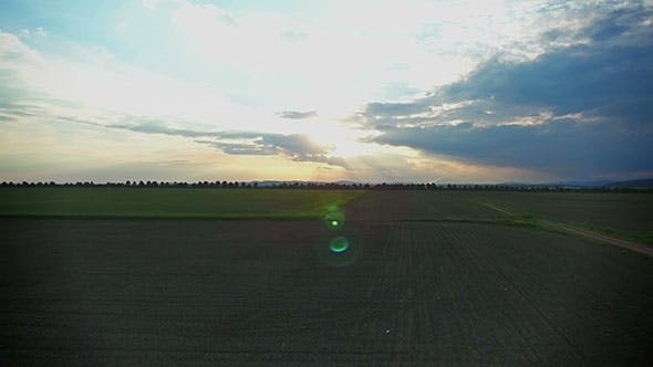 Thumbnail for Sunset Over a Field of Corn