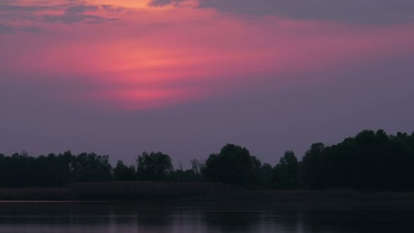 Thumbnail for Red Sunset Sky On The River