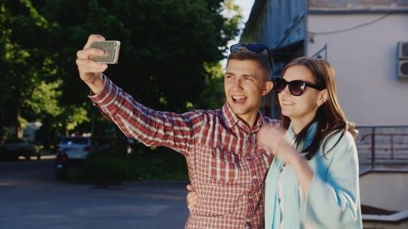 Thumbnail for A Loving Couple Makes Selfie
