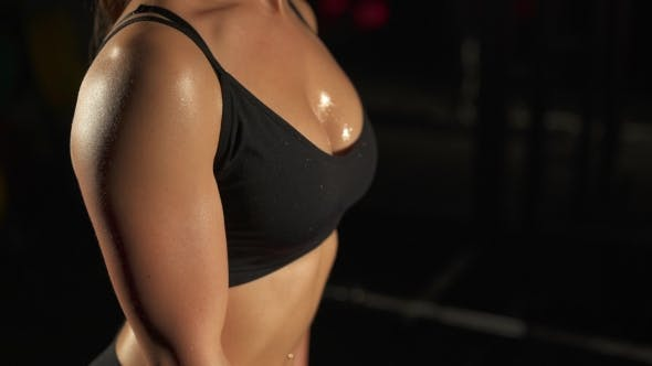 Thumbnail for Fitness Girl Pumping Muscles