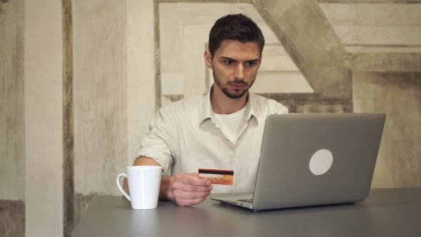 Thumbnail for Mixed Race Businessman Online Banking.