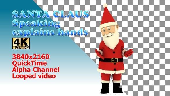Weihnachtsmann bewegt Hände