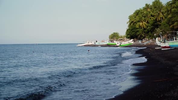 Thumbnail for Seashore with Fishing Boats