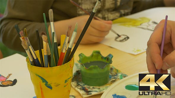 Thumbnail for Kids Painting with Watercolors
