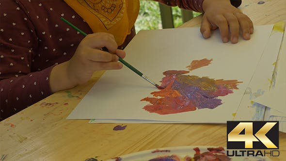 Thumbnail for Child Painting with Tempera Paints