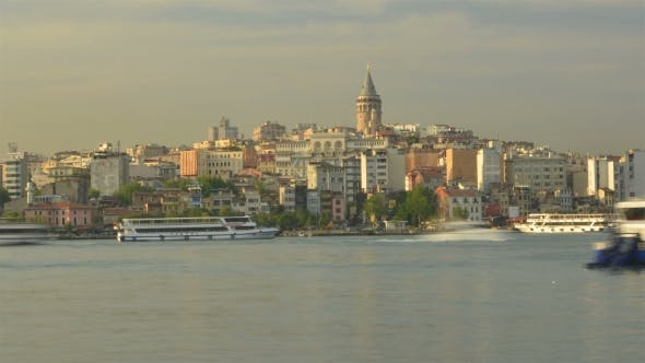 Thumbnail for Maritime Traffic In The Golden Horn Bay. Istanbul.
