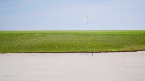 Thumbnail for View From The Sand Bunker On a Golf Course