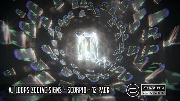 Thumbnail for VJ Loops Zodiac Signs - Scorpio - 12 Pack