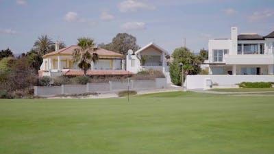 Luxury Homes Surrounding Flat Golf Course Range