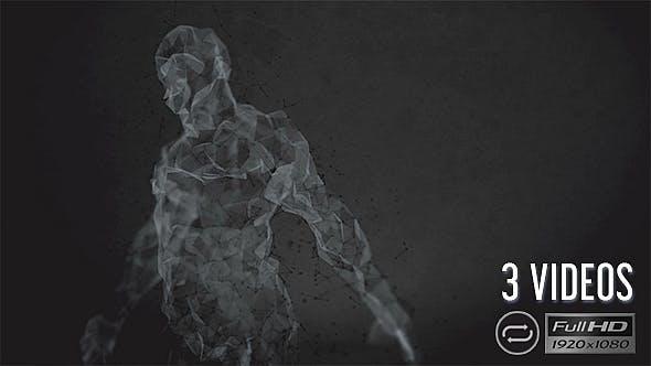 Thumbnail for Plexus Human Silhouette - Dark Style - 3 Pack