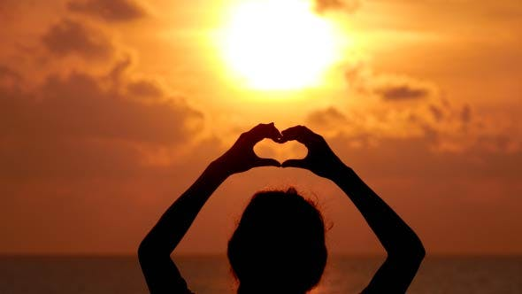 Symbol Heart Sunrise