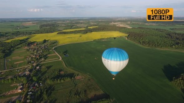 Cover Image for Blue Air Balloon Aerial Shot