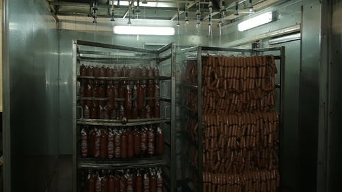 Sausage Is Hot In The Oven Cools Soars Smokes Cook Sausage Beef Pork Chicken Meat Plant For The