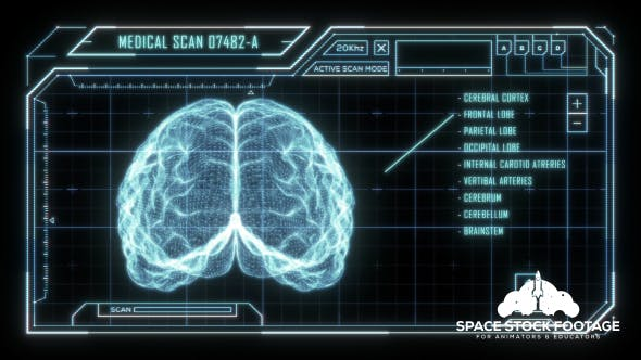 Holographic Brain Scan HUD