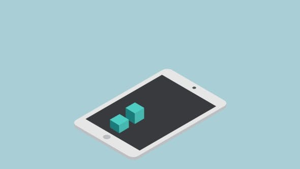Cover Image for Footage Modern Concept Isometric Mobile Marketing Infographic