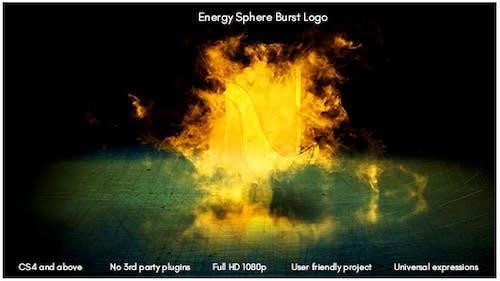 Energy Sphere Burst Logo