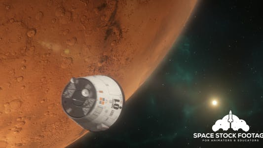 Thumbnail for Lander Approaching Mars