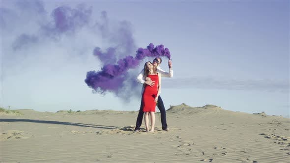 Thumbnail for Lovers with Purple Smoke
