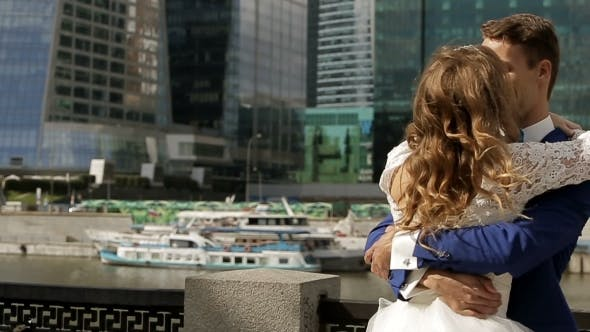 Thumbnail for Wedding Couple Whirling In The City