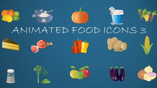 Thumbnail for Animated Food Icons 3