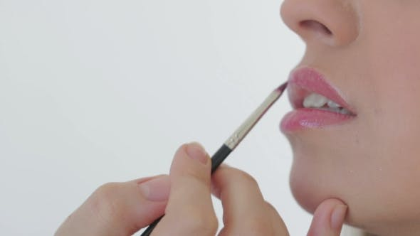 Thumbnail for Artist Doing Professional Make Up Of Woman