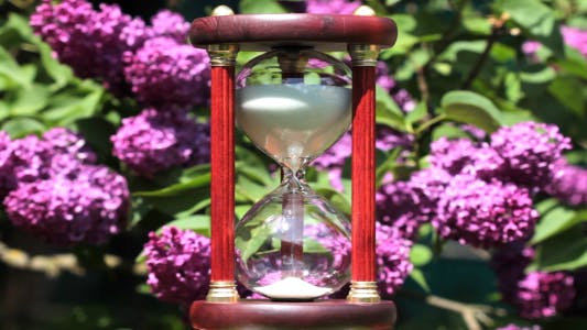 Thumbnail for Hourglass On The Background Of Blooming Lilacs 3
