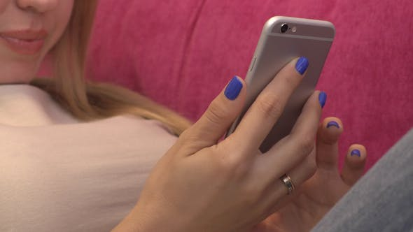 Thumbnail for Girl Using Smartphone At Home 07