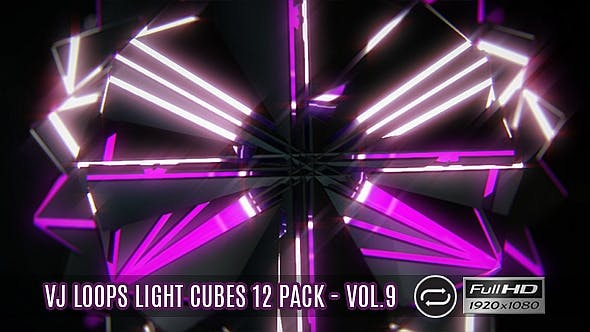 Thumbnail for VJ Loops Light Cubes Vol.9 - 12 Pack