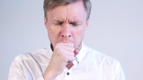 Thumbnail for Businessman Coughing Portrait, Cough