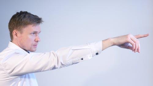 Businessman Pointing toward Destiny, Positive Approach