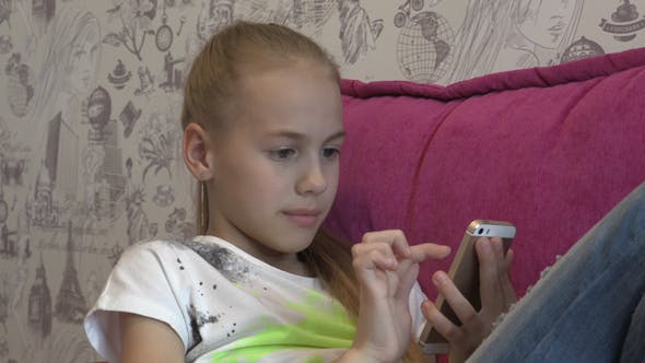 Thumbnail for Young Girl Using Smartphone At Home 07