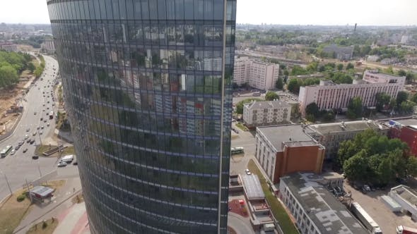 Cover Image for Glass Skyscraper Aerial
