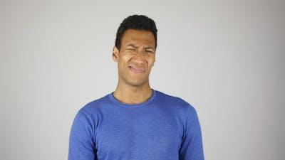 Portrait of Negative Black Man, Expressing Hate