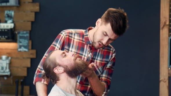 Thumbnail for Barber Asking Man's Wish About Beard Cut