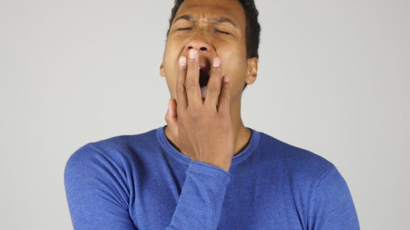 Thumbnail for Yawning Tired Black Man