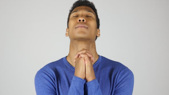Thumbnail for Asking for Forgiveness, Gesture by Black Man, Praying to God