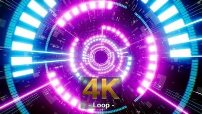 Rotating Neon Light Background 4K