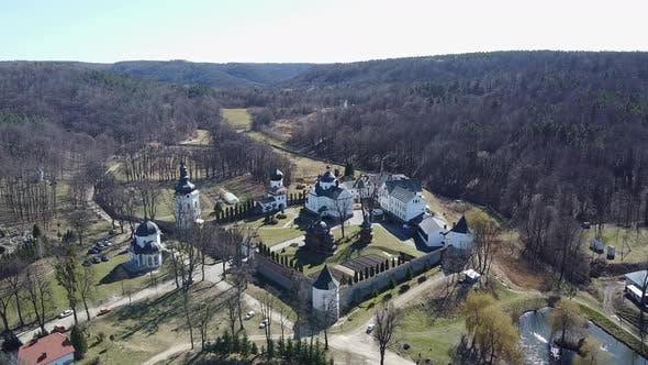 Thumbnail for Krehiv Kloster Aerial View Drohne, Ukraine