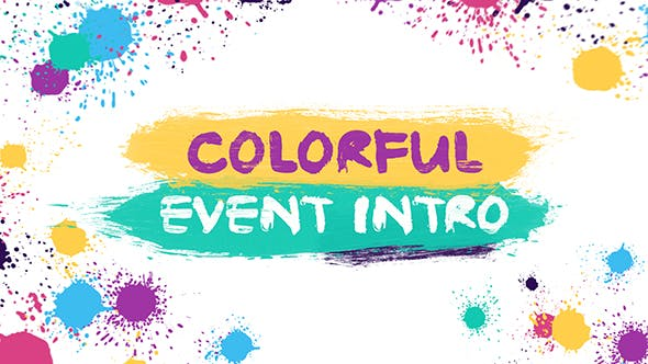Thumbnail for Colorful Event Intro | After Effects Template