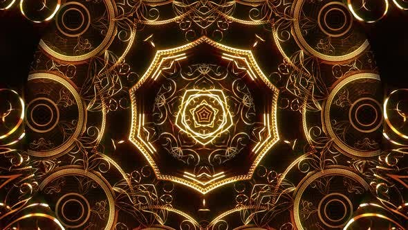 Golden Ornament Kaleidoscope