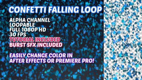 Thumbnail for Confetti Falling Background