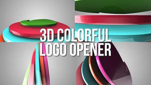 3D Colorful Logo Opener