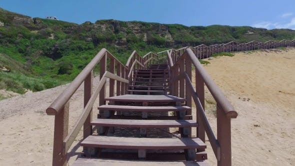 Thumbnail for Climb Up Via Wooden Stairs With Railing