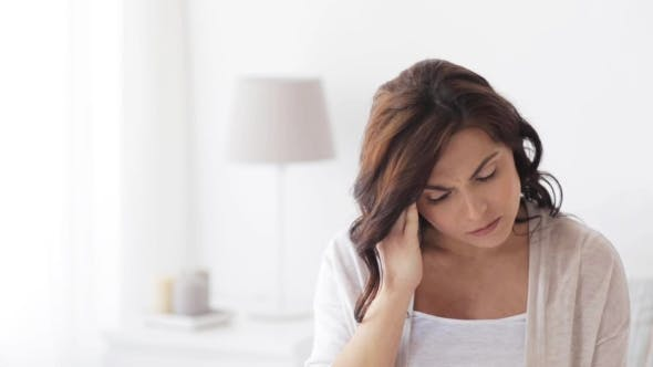 Thumbnail for Pregnant Woman In Bed With Headache At Home 30