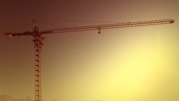 Thumbnail for Tower Crane - Clear Sunset