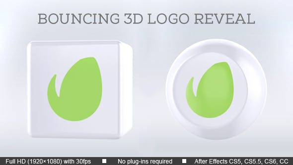 Thumbnail for Bouncing 3D Logo Reveal